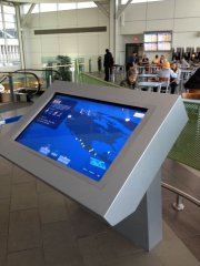 Touch screen display at airport