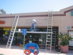 Ladder and plank installation